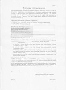 2.Oznámenie o výnimke z karantény